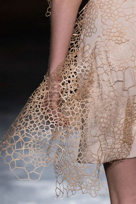 Laser Cut Garments by Laser Cut Dress With Intricate Organic Patterns
