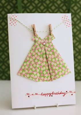Origami Clothes Folding - of giving origami paper dress card