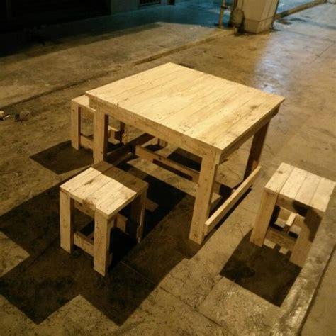 meja makan kayu pallet desainrumahid