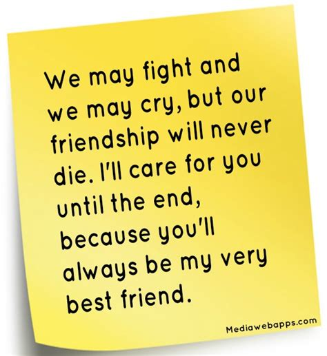 7 Fights You May Had by We May Fight And We May Cry But Our Friendship Will Never