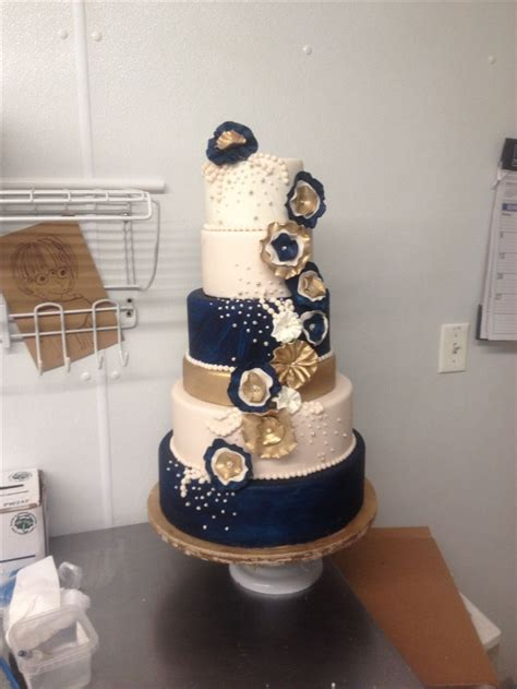 Colgans Wedding Cake And More by Navy Blue And Gold Wedding Cake Cakes