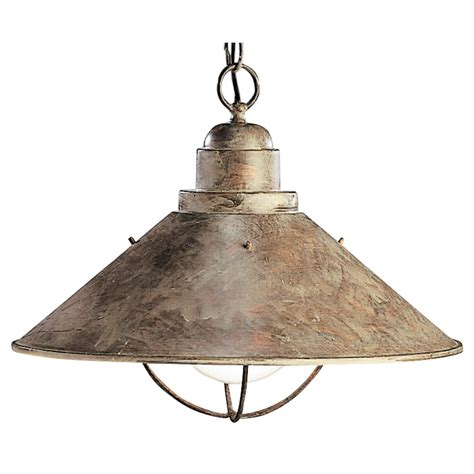 Nautical Themed Ceiling Fans - kichler nautical pendant light in olde brick finish with