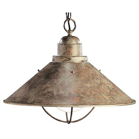 nautical pendant lighting kichler nautical pendant light in olde brick finish with
