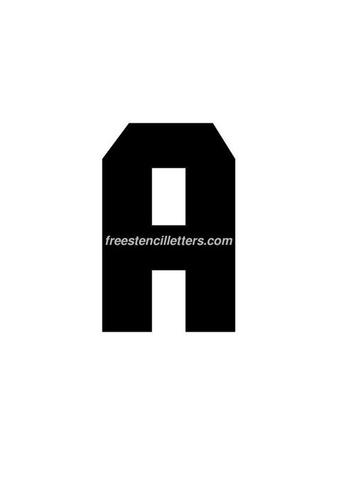 printable 9 inch letter stencils print 9 inch a letter stencil free stencil letters