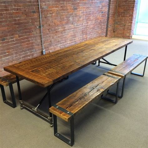 Barn Wood Dining Room Table Barn Wood Dining Table And Benches Rustic Dining Room Vancouver By J S Reclaimed Wood