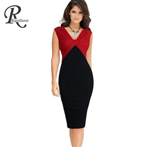 Office Dress 1 robe 2016 casual summer office dress plus size v neck sleeveless bodycon