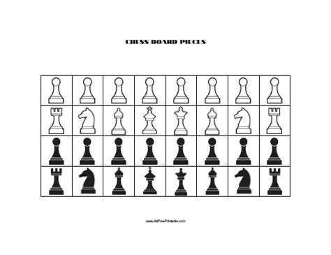Chess Pieces Outline by Printable Chess Board Template Printable Template 2017