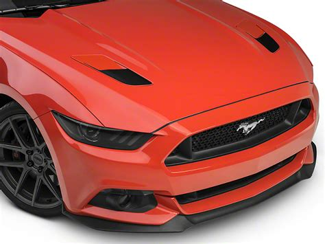 13 mustang black hood vents for vent hood mustang hood vent accent decals black 15 17 gt free