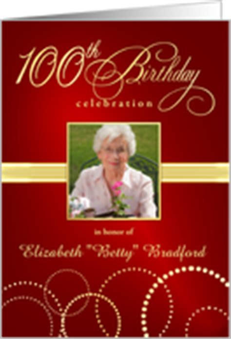 100th birthday invitations from greeting card universe