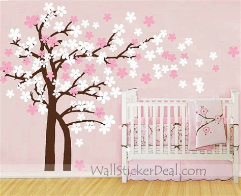 Cherry Blossom Wall Sticker trailing cherry blossom tree wall stickers