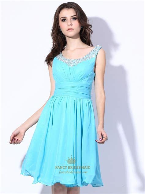 aqua beaded dress aqua blue chiffon cocktail dress with beaded