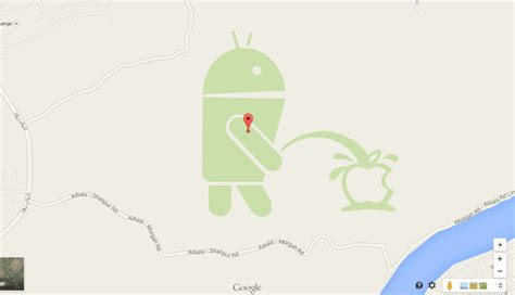 apple maps for android quand android trolle apple sur maps