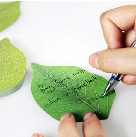 Post It Craft Paper - 1pcs green leaf memo pad mini note sticker post it