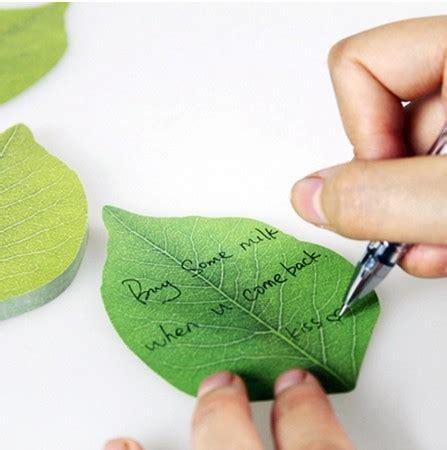 1pcs green leaf memo pad mini note sticker post it