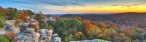 Garden Of The Gods Fall by Hdr Panoramic Of A Place In The Shawnee National Forest In