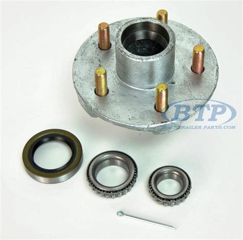 boat trailer hubs and bearings boat trailer hub galvanized 5 lug with bearings fits 3500