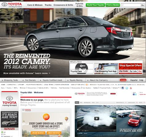toyota website the ultimate guide to online branding and building