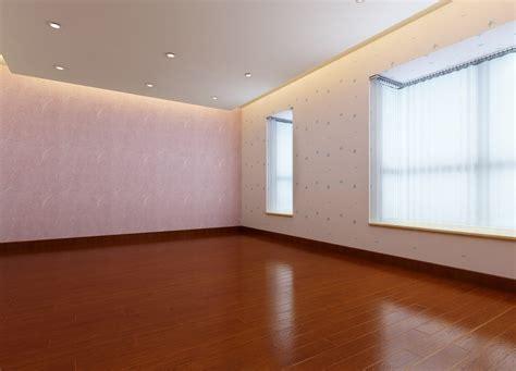 ceiling door and wood floor design 3d light green house