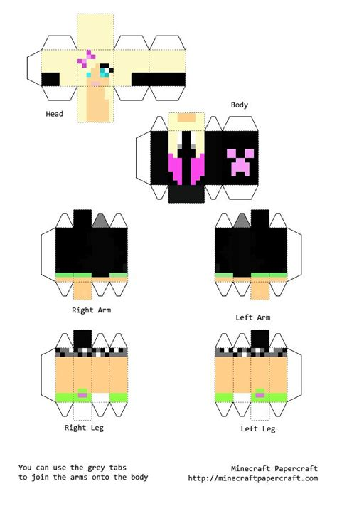 Papercraft Characters - 94 best images about minecraft skins on cool