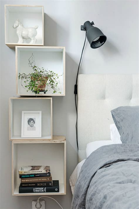 7 alternatives to bedside tables for small spaces mocha