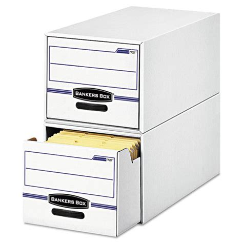 Drawer Storage Boxes bankers box 721 stor drawer file drawer storage box letter white blue 6 fel00721