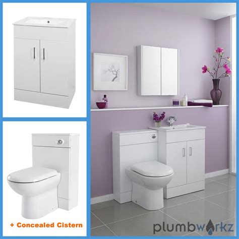 Bathroom Suite With Vanity Unit by Bathroom Furniture Suite Vanity Unit Cabinet Toilet Basin