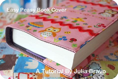 How To Make A Book Cover With A Paper Bag - diy fabric book cover easy
