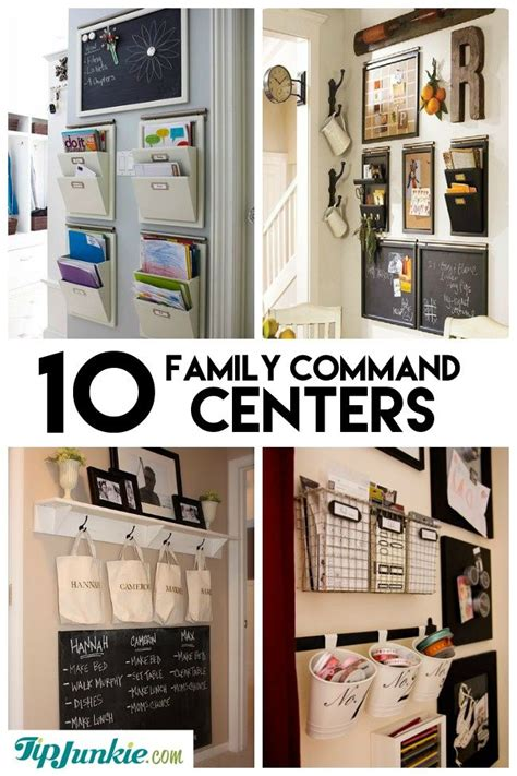 family organization 10 stylish family schedule and command center ideas