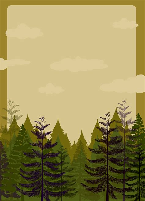 border design  pine forest   vectors