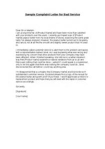 Complaint Letter Template For Poor Customer Service by Complaint Letter Template For Poor Customer Service