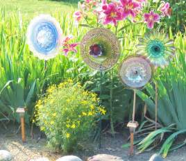unique garden decor yard photograph sale recycled glas