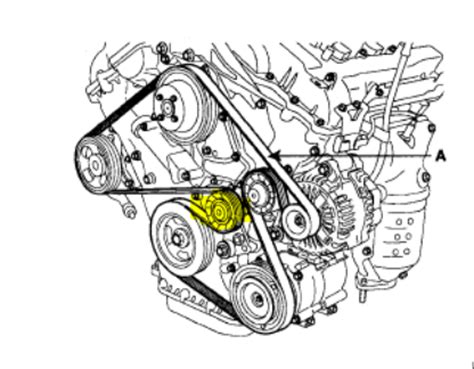 where is the tensioner pulley on a 2008 hyundai santa fe