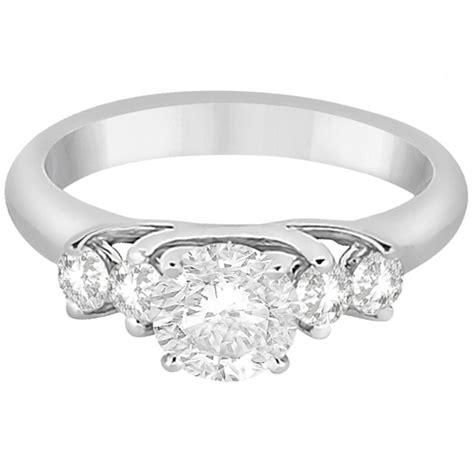 five engagement ring for 14k white