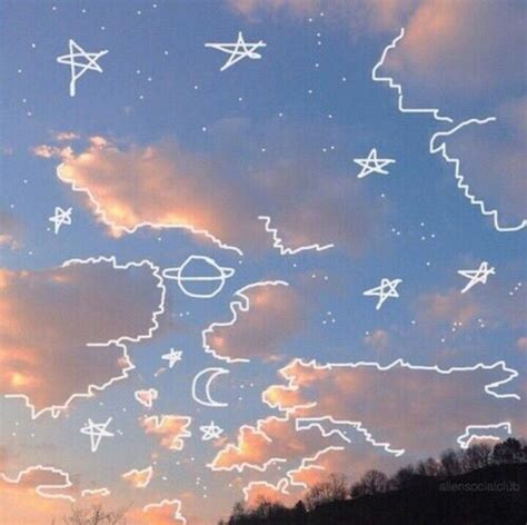 sky space for pinterest aesthetic clouds draw drawing dream image 4589020