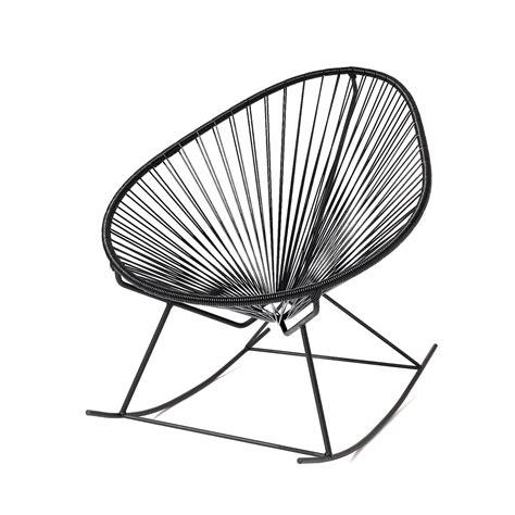 innit acapulco chair black acapulco rocker black weave on black frame innit