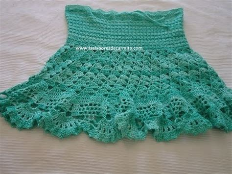 falda recta a crochet paso a paso falda crochet ganchillo paso a paso parte 1 youtube
