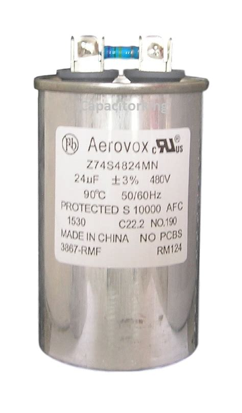 average capacitor lifespan aerovox lighting capacitor 24uf 480 volt metal halide z74s4824mn metal metal