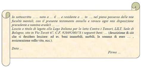 testamento olografo erede universale esempi di testamento olografo