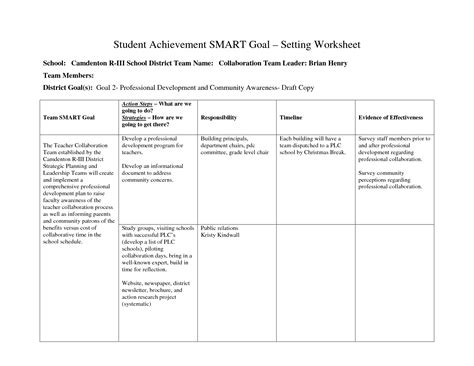 14 Best Images Of Brian Tracy Goal Setting Worksheet Goal Setting Worksheet For Kids My Goals Brian Tracy Goal Setting Template