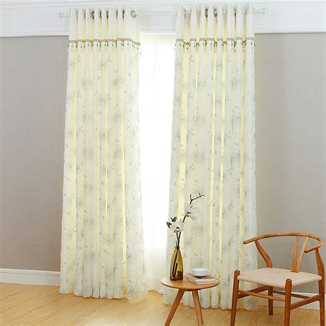 simple modern curtains modern simple white floral embroidery polyester curtains
