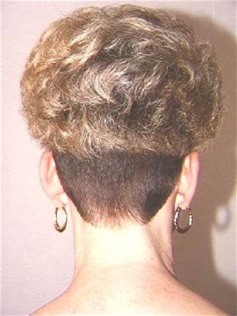 shaved wedge haircuts napes on pinterest shaved nape bob back view and