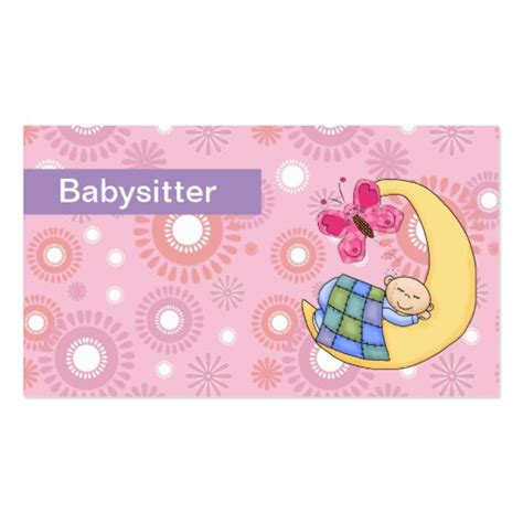 babysitting cards free templates babysitting business cards zazzle