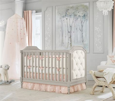 Monique Lhuillier Sateen Ethereal Butterfly Baby Bedding Pottery Barn Baby Crib Bedding