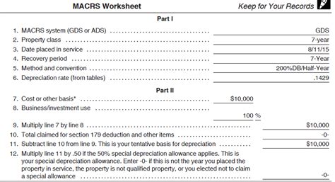 irs section 168 depreciation calculated accurately sage fixed assets
