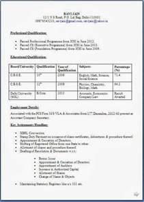 company resume format resume templates