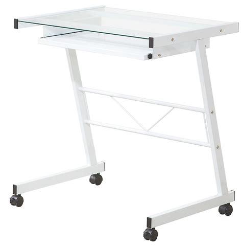 White Glass Computer Desk Steal A Sofa Furniture Outlet White Glass Computer Desk