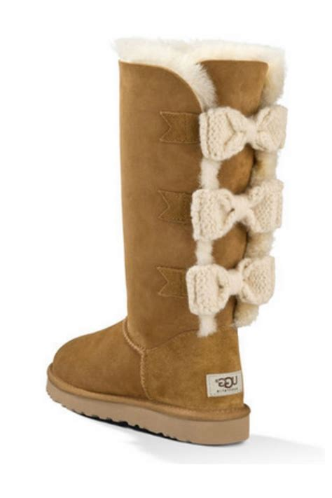ugg boots with bows ugg bailey knit bow from new hshire by stiletto shoes