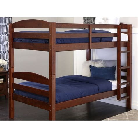 bunk beds walmart wood bunk bed espresso colors