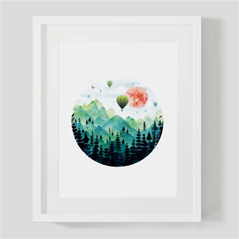 Home Decor Stores Cheap popular mountain watercolor paintings buy cheap mountain