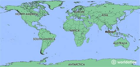 where is malaysia on a world map where is malaysia where is malaysia located in the